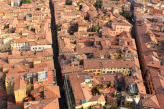 Ландшафт крыши Bologna, Италии Стоковые Фото