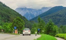 Ландшафт лета в Германии Альпах Стоковые Изображения RF
