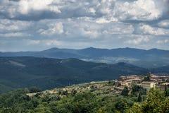 Ландшафт лета в зоне Тоскане Chianti Стоковое фото RF