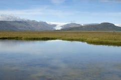 Ландшафт лета в Исландии. Стоковые Изображения RF