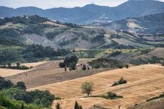 Ландшафт лета между Guiglia и болонья Стоковые Фото