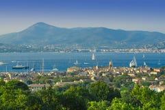Ландшафт лета St Tropez стоковое фото