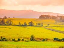 Ландшафт лугов Sumava, южная Богемия, чехия стоковые фотографии rf