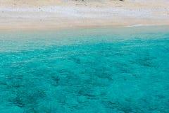 Ландшафт моря в острове лефкас, Греции стоковая фотография rf