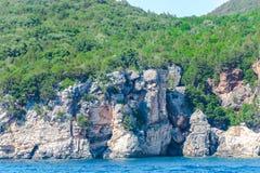 Ландшафт моря в острове лефкас, Греции стоковые изображения rf