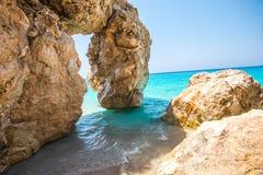 Ландшафт моря в острове лефкас, Греции стоковое изображение