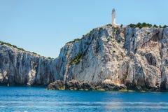Ландшафт моря в острове лефкас, Греции стоковая фотография