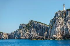 Ландшафт моря в острове лефкас, Греции стоковое фото rf