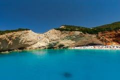 Ландшафт моря в острове лефкас, Греции стоковые изображения