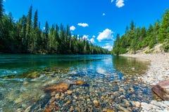 Ландшафт национального парка ледника - Канада стоковое изображение