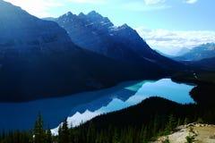 Ландшафт национального парка Banff стоковые фотографии rf