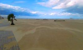 Ландшафт на пляже в Римини, Италии стоковое фото