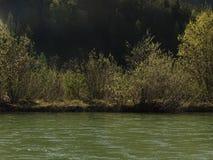 Ландшафт на реке Изаре около Fleck долины, Баварии стоковая фотография rf