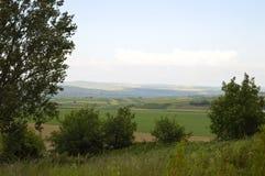 Ландшафт на холме Стоковое Фото