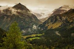 Ландшафт на швейцарских Альпах Стоковые Фото