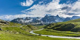 Ландшафт на Col du Pourtalet в Пиренеи стоковое фото rf