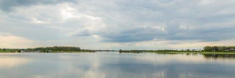 Ландшафт Нидерланды озера Стоковое Фото