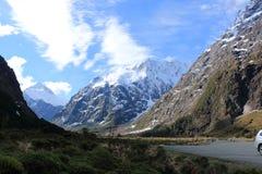Ландшафт Новой Зеландии гористый Стоковое Фото