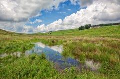 Ландшафт Нортумберленда с прудом Стоковое фото RF