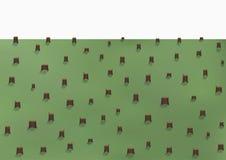 Ландшафт обезлесения, много пни, vector горизонтальная Стоковое Изображение RF