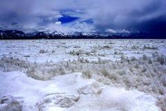 Ландшафт озера Nam Co стоковые фотографии rf