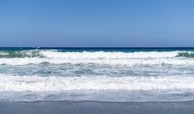 Ландшафт океана с большими волнами Стоковые Изображения RF