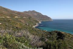 Ландшафт около побережья на накидке хорошей надежды, Южной Африке стоковая фотография