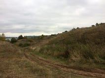 Ландшафт осени в деревне региона Konstantinovo Рязани стоковая фотография rf