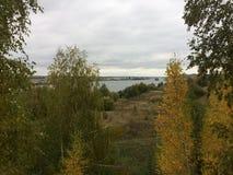 Ландшафт осени в деревне региона Konstantinovo Рязани стоковое фото