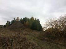 Ландшафт осени в деревне региона Konstantinovo Рязани стоковое изображение rf