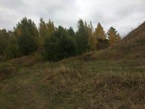 Ландшафт осени в деревне региона Konstantinovo Рязани стоковая фотография