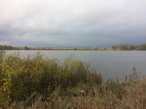 Ландшафт осени в деревне региона Konstantinovo Рязани стоковое фото rf