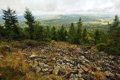 Ландшафт осени - красиво покрашенное все стоковые изображения rf