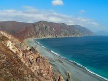 Ландшафт осени на море стоковое фото rf