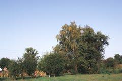 Ландшафт осени на солнечный день вне города Стоковое Фото