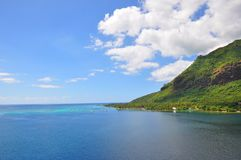 Ландшафт островов Таити стоковое фото