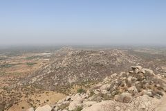 Ландшафт от верхней части горы стоковые фото