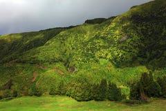 Ландшафт от вулканического озера кратера Sete Citades Стоковое Фото