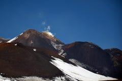 Ландшафт от гор этна вулканических, Сицилия Стоковые Изображения RF