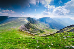 Ландшафт от гор Parang, Румыния Стоковые Фото