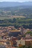 Ландшафт от небольшого испанского городка Torroella de Montgri в Косте Brava стоковые изображения rf