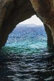 Ландшафт от побережья острова Закинфа стоковое фото rf