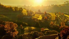 Ландшафт падения в Словакии Стоковые Изображения