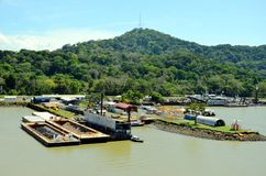 Ландшафт Панамского Канала стоковые фото