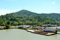 Ландшафт Панамского Канала стоковые изображения rf