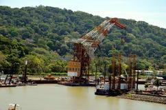Ландшафт Панамского Канала стоковое фото rf