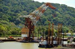 Ландшафт Панамского Канала стоковое изображение rf