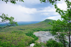 Ландшафт парка штата ряда Mount Holyoke стоковые изображения rf
