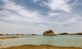 Ландшафт парка Yardan национального геологохимического, Цинхая, Китая Yardang было создано с течением времени мягкой частью земли стоковые фото
