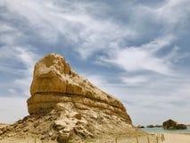 Ландшафт парка Yardan национального геологохимического, Цинхая, Китая Yardang было создано с течением времени мягкой частью земли стоковое фото